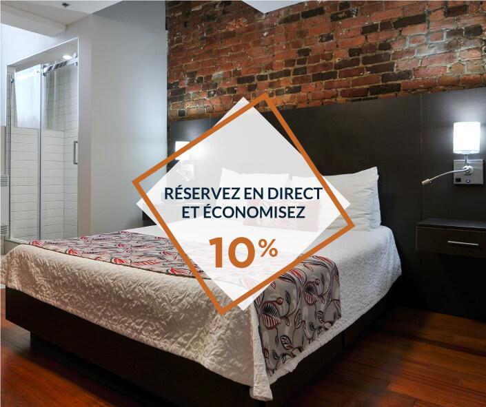 promo rabais 10% réservation auberge le Pomerol Montréal